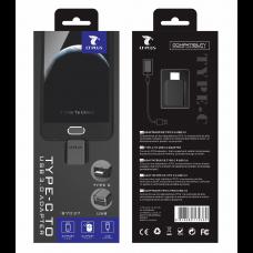 LT PLUS B7037 ADAPTADOR TYPE-C TO USB 3.0 NEGRO