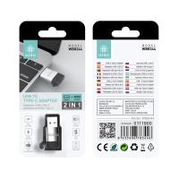 IKREA WB8344 ADAPTADOR USB A TYPE-C PLATA