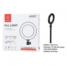 WOOX WR9077 LUZ DE RELLENO 10W 16CM 48 LAMPS NEGRO