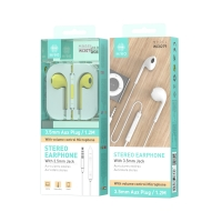 IKREA WC8279 AURICULARES STEREO ABS+TPE 3.5MM 1.2M AMARILLO