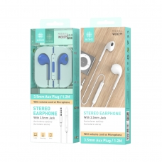 IKREA WC8279 AURICULARES STEREO ABS+TPE 3.5MM 1.2M AZUL