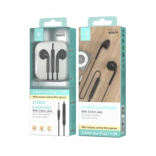 IKREA WC8279 AURICULARES STEREO ABS+TPE 3.5MM 1.2M NEGRO
