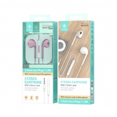 IKREA WC8279 AURICULARES STEREO ABS+TPE 3.5MM 1.2M ROSA