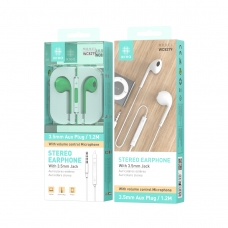 IKREA WC8279 AURICULARES STEREO ABS+TPE 3.5MM 1.2M VERDE