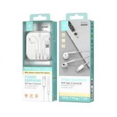 IKREA WC8281 AURICULARES STEREO ABS+TPE CONECTOR TYPE-C 1.2M BLANCO