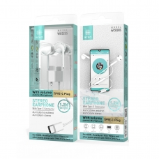 IKREA WC8285 AURICULARES STEREO PARA HUAWEI ABS CONECTOR TYPE-C 1.2M BLANCO