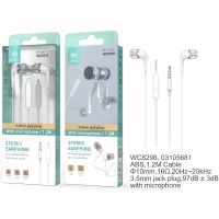 IKREA WC8298 AURICULARES STEREO CON MICRÓFONO 3.5MM BLANCO