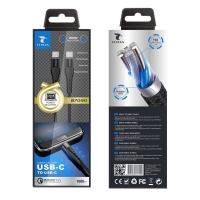 LT PLUS B7090 CABLE PD USB-C A USB-C QC3.0 1M NEGRO