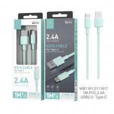 IKREA WB1162 CABLE TRENZADO DE NYLON ACABADO ALUMINIO MICRO USB 2.4A 1M VERDE