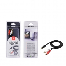 WOOX WB2869 CABLE DE AUDIO VIDEO 3.5M TO 2RCA 3M