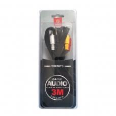 WOOX WB2873 CABLE DE AUDIO VIDEO 3.5M A 3RCA 3M
