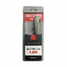 WOOX WB2876 CABLE USB 2.0 AM TO AM 1.5M