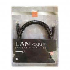 WOOX WB2880 LAN CABLE CAT6 3M NEGRO