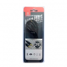 WOOX WB2912 CABLE DE AUDIO 3M NEGRO