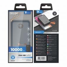 LT PLUS D5020 POWER BANK 10000MAH DUAL USB NEGRO