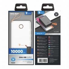 LT PLUS D5020 POWER BANK 10000MAH DUAL USB BLANCO