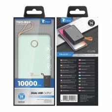 LT PLUS D5020 POWER BANK 10000MAH DUAL USB MACARON VERDE MENTA