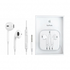 APPLE AURICULARES BLANCO EARPODS CON MANDO A DISTANCIA Y MICRÓFONO 3.5MM PARA IPHONE