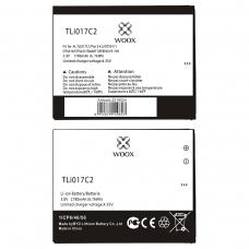 WOOX BATERÍA TLI017C2/TLi017C1/TLi01 PARA ALCATEL PIXI 3 4.5/OT5017/OT5019/OT5027/SMART SPEED 6/VF-795 1780MAH 3.8V 6.76WH