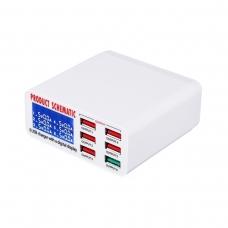 SCHEMATIC 896 cargador rápido 6 puertos USB con pantalla digital LCD QC3.0 40W