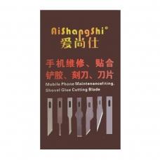 AISHANGSHI caja de laminas de cuchillas 10Pcs modelo ASS-4