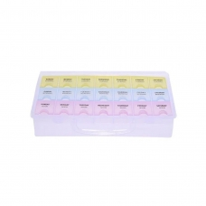 Caja plástica de almacenamiento multicolor