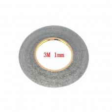 3M cinta doble cara negra 1mm
