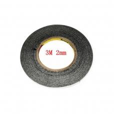 3M cinta doble cara negra 2mm