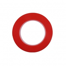 Cinta doble cara roja 5mm