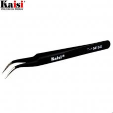 KAISI ESDT-15 pinza profesional punta curvada y fina