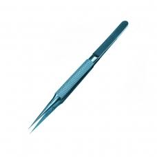 No brand pinza de aleación recta azul con estuche