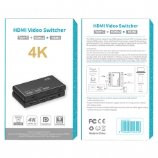 5601 HDMI VIDEO SWITCHER TYPE-C+HDMI*2 TO HDMI 4K