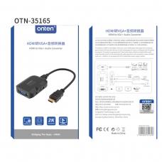 ONTEN OTN-35165 Adaptador Convertidor de audio HDMI a VGA