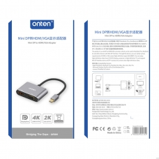 ONTEN OTN-5131B Adaptador VGA mini DP a HDMI