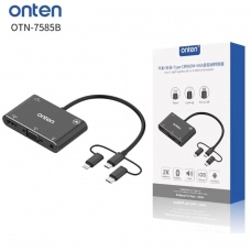 ONTEN OTN-7585B TYPE-C/LIGHTNING/MICRO USB TO HDMI/VGA/AV ADAPTER