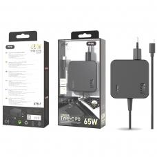 MTK AT961 Cargador universal automatico con conector TYPE C para portatiles y moviles 65W 3.25A 1.5M negro
