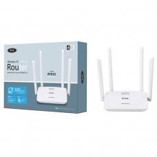 MTK RT635 Router de Wifi inalámbrico con 4 antenas 4 puertos LAN y 1 Puerto WAN 300 Mbps blanco