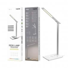 MTK TA0250 Lámpara metal de mesa LED 3W con cargador inalámbrico para móviles 5W 1 USB