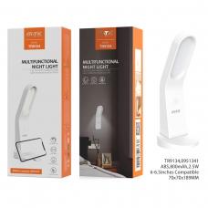 MTK TR9134 Lámpara de noche con botón tactil,soporte de movil y imán para colgar 800mAh blanco