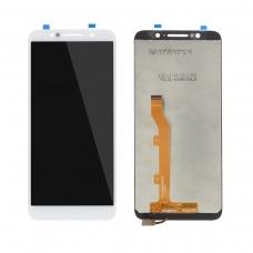 Pantalla completa compatible para Alcatel 1C/OT5009 blanca