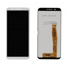 Pantalla completa compatible para Alcatel 3 OT5052/ Smart N9/VFD 720 blanca