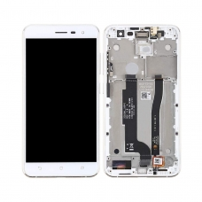 Pantalla completa compatible con marco para Asus Zenfone 3 ZE552KL blanca