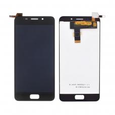 Pantalla completa compatible para Asus Zenfone 3s Max ZC521TL negra