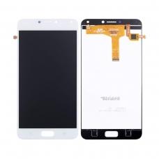 Pantalla completa compatible para Asus Zenfone 4 Max ZC554KL/X001D blanca