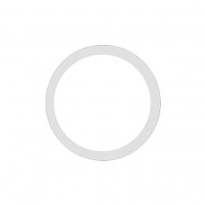 Anillo metálico blanco de cámara trasera para iPhone 11