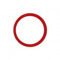 Anillo metálico rojo de cámara trasera para iPhone 11