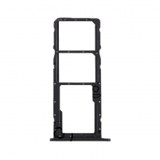 Bandeja Dual SIM/SD negra para LG K61