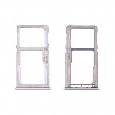 Bandeja dual SIM/tarjetas SD plateada para Meizu M6 Note M721H