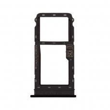 Bandeja SIM negra brillante para Moto G8 Plus XT2019