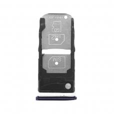 Bandeja Dual SIM+SD morada para Motorola One Zoom (XT2010-1)